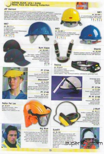 HTZ oprema - HTZ - Zaštita glave, lica i sluha - strec folije