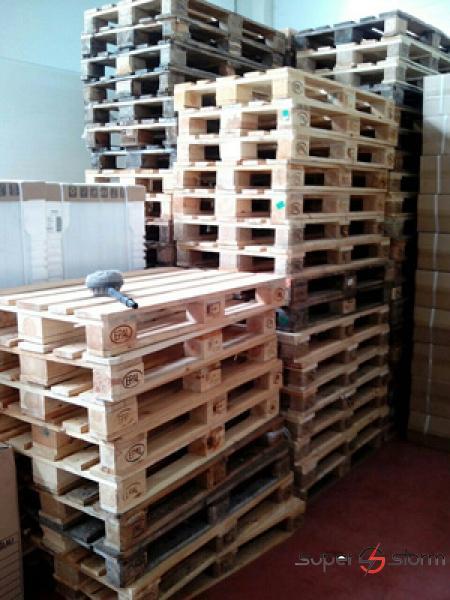 Drvene palete - Euro palete - strec folija